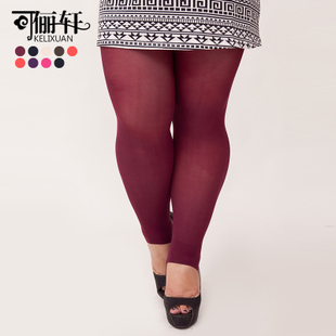 Li Xuan can spring new big yards fat mm wild through the meat thin ultra elastic candy color step foot pantyhose bottoming 903