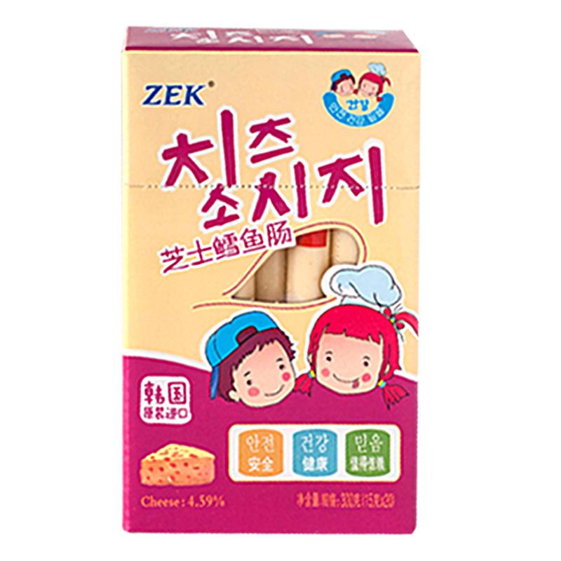 ~天貓超市~韓國 ZEK鱈魚腸芝士味300g 盒 香腸火腿腸魚腸