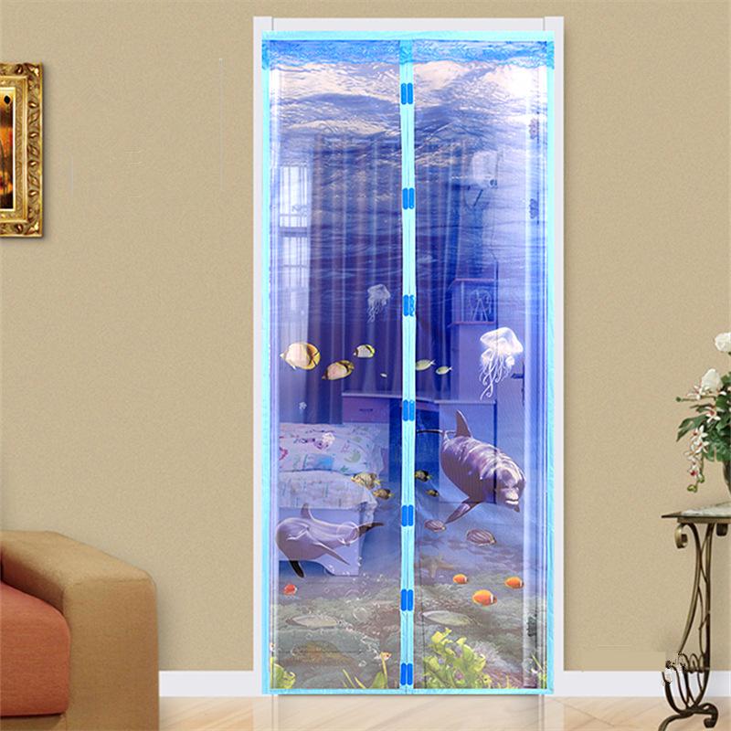 3D防蚊門簾 加密磁性軟紗門簾 防蚊紗窗 臥室沙門簾 隔斷簾