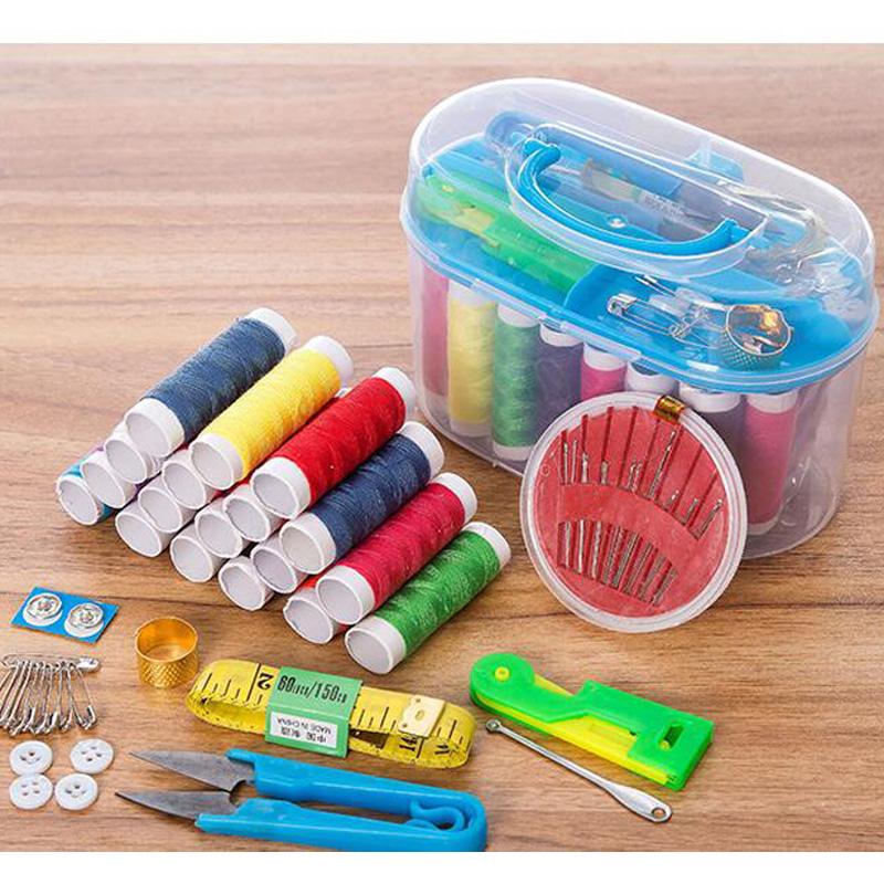 Рукоделие коробка 10 наборы практический домой шить заполнить коробка многоборье портативный разбираться рукоделие пакет шить составляют мешок