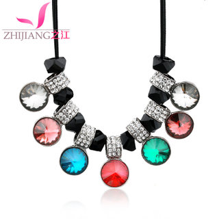 Zhijiang ethnic necklace sweater chain chain short clavicle Opal diamond accessories fashion gift Korea jewelry