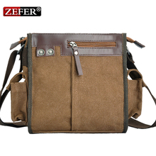 Vogue of new fund of 2015 ZEFER male new canvas bag shoulder bag British male wind bag AZ089 canvas shoulder bag