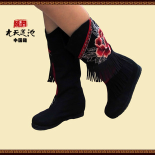 Women s autumn and winter 2015 national wind embroidered cloth boots genuine increase in the city of Luoyang in the boots Original