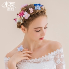 Beauty is a butterfly Princess wedding hair style B0817 handmade Flower Butterfly wedding tiara sets