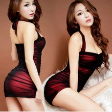 Sexy lingerie brand women's tight package buttocks short skirt reality nightclubs uniform extreme temptation pajamas