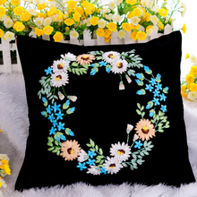 Covered ribbon embroidery Herbal pillow cushion for leaning on Mood for love The sitting room the bedroom 3 d the cross-stitch