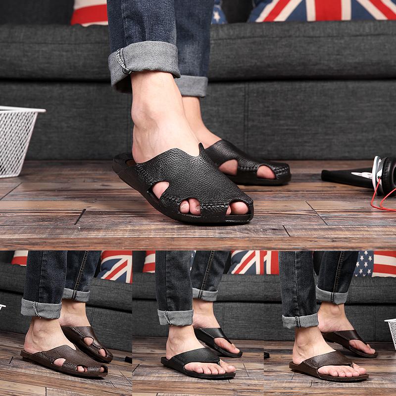 Summer waterproof Vietnamese slippers trend half slippers mens antiskid Baotou tide mens beach shoes overshoes rubber shoes