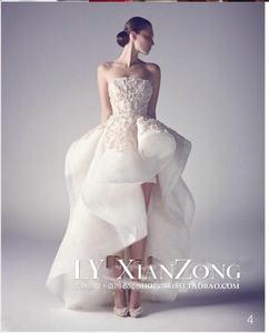 新品前短后长婚纱抹胸蕾丝拍照蓬蓬裙仪式演出晚宴生日名媛公主