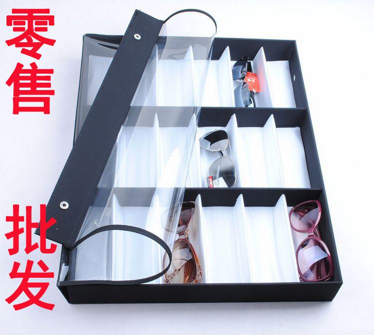 Специальные предложения 18 многофункциональный прозрачная крышка очки дисплей поле коллекции солнцезащитных очков хранения поле очки дисплей оптом