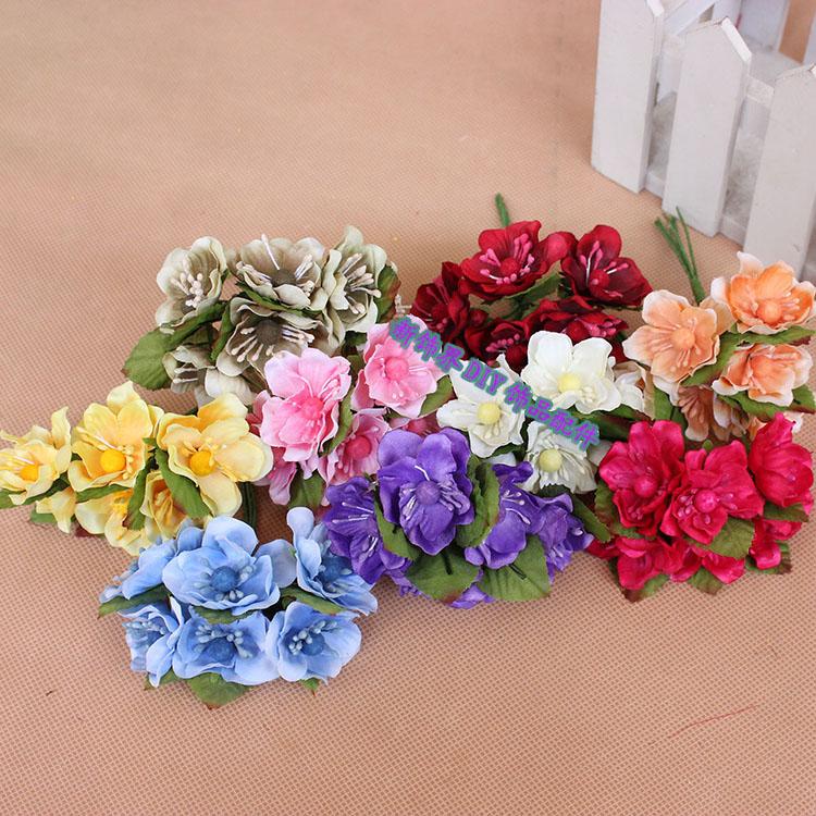 Ювелирные изделия Аксессуары моделирования 6 сакуры букет DIY венок Цветы Букет цветок искусственные цветы шелк цветок гирлянды Аксессуары