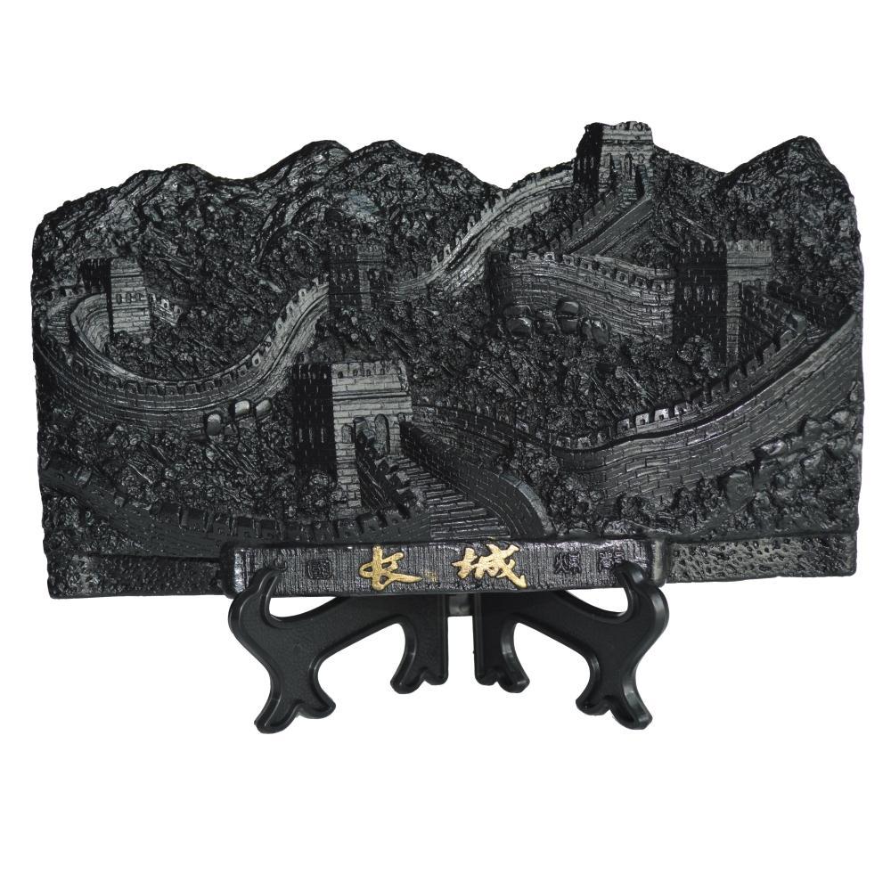 【 шаньси дом 】большой одинаковый уголь модельывать великая китайская стена ! подарок ремесла статья рабочий стол украшение