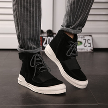 Autumn han edition of the new boots male model of cattle in the wool tube male boots British high popular logo individuality boots shoes men's shoes