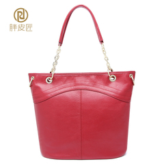2015 new dermal fat Tanner Ms female header layer of leather cow leather bag shoulder Crossbody bag