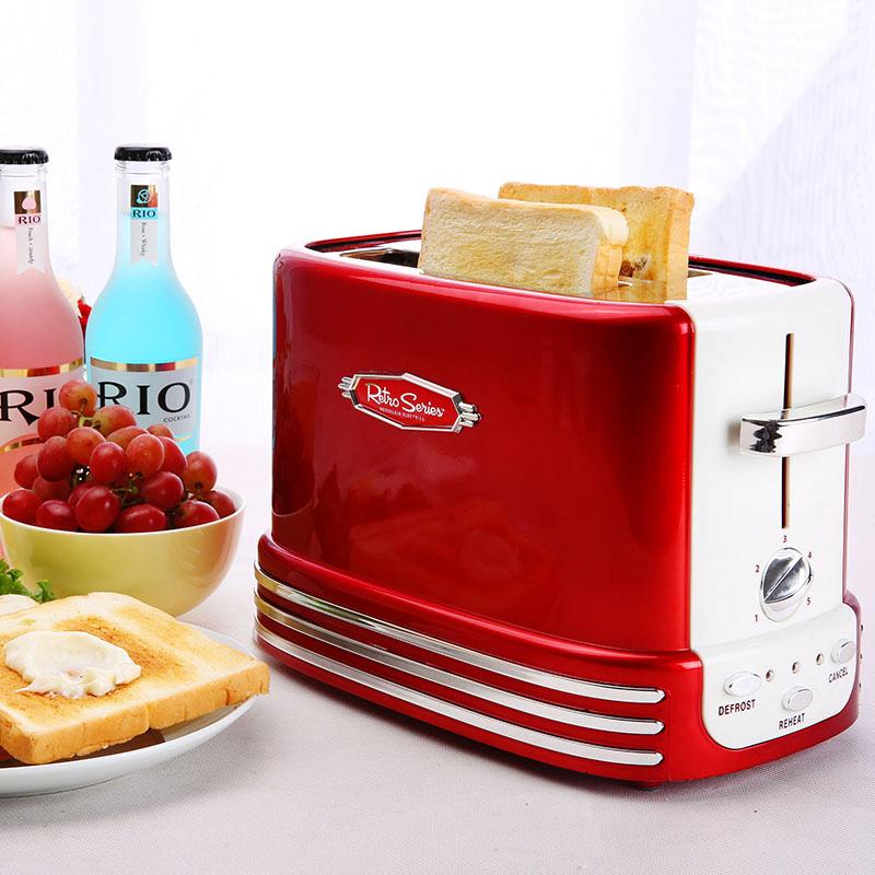 美国Nostalgia Electrics 50年代金属红复古烤面包机RTOS200