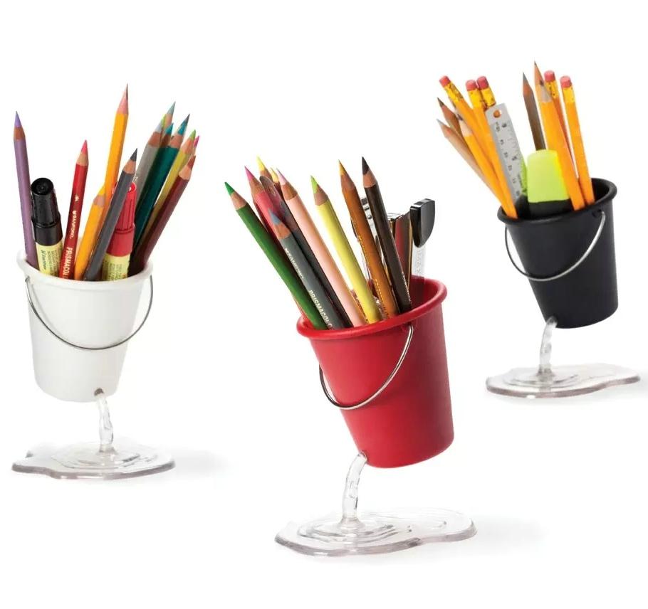 以色列Peleg 漏水破桶式悬浮笔筒 Desk Bucket 创意办公悬浮笔筒