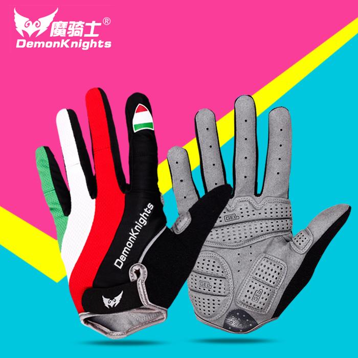 Весна верховая езда перчатки все фондовые индексы велосипед перчатки длинный палец затухание мужской и женщины горный велосипед верховая езда перчатки верховая езда оборудование