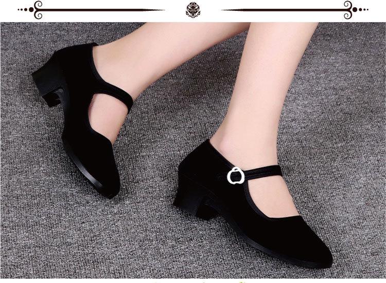 Для взрослых старый пекин ткань обувная в квартира с на высоком кабгалстук-бабочкае скольжение мягкое дно обувь обувь casual черный ребенок танец производительность обувной