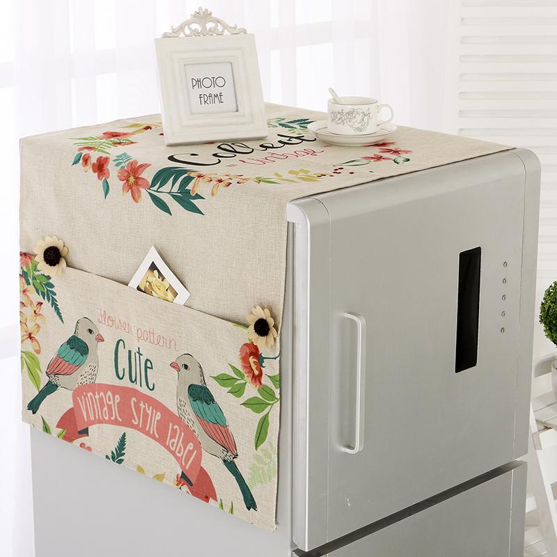Великолепный сорняки льняная ткань холодильник покрытия полотенце стиральная машина обложка тканевая интенсивный полотенце список открытых на дверь холодильник пылезащитный чехол
