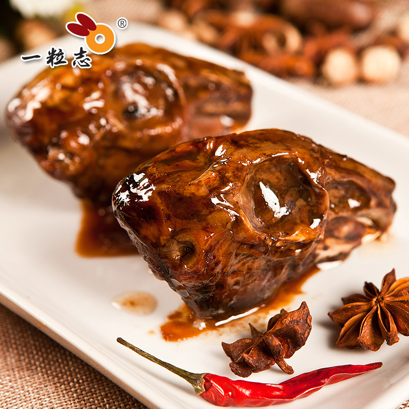 A record_ Spicy rabbit head (4 sets) leisure snacks, stewed snacks, Quzhou specialty, three heads and one palm