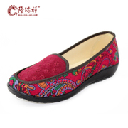 Long Ruixiang shoes old Beijing cloth shoes women's shoes flats shoes mother fall 2014 new 29-3
