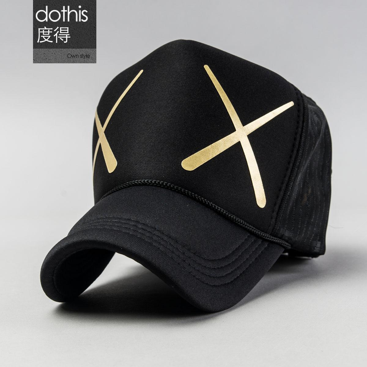 帽子男秋 潮男女同款 棒球帽百搭網帽卡車帽貨車帽帽