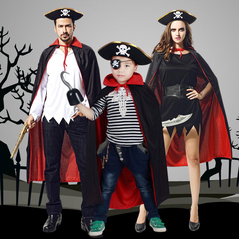 海盗双面披风表演服
