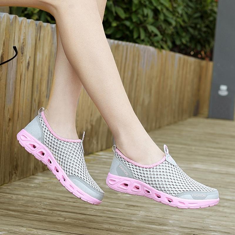 夏季溯溪鞋轻质沙滩洞洞鞋网面透气户外鞋涉水鞋朔溪鞋水陆漂流鞋