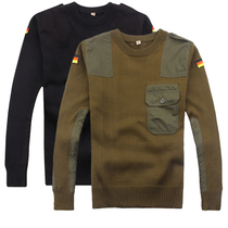 Outdoor long-sleeved knitted sweater male army fan clothing round collar tactical warm sweater autumn and winter