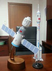 太空探险火箭航天飞机宇宙飞船轨道卫星天宫一号认知早教益智模型