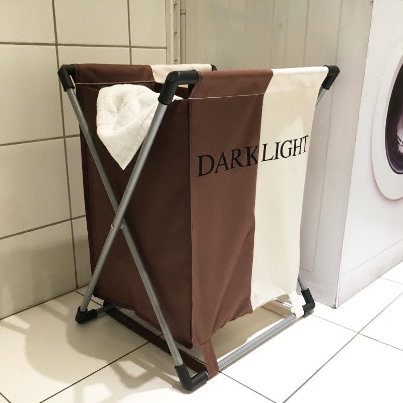 加厚折叠防潮脏衣篮布艺双格衣物收纳筐浴室防水洗衣篮玩具收纳袋