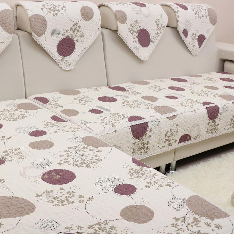 純棉沙發墊布藝簡約 全棉坐墊子防滑沙發套沙發巾四季 定做
