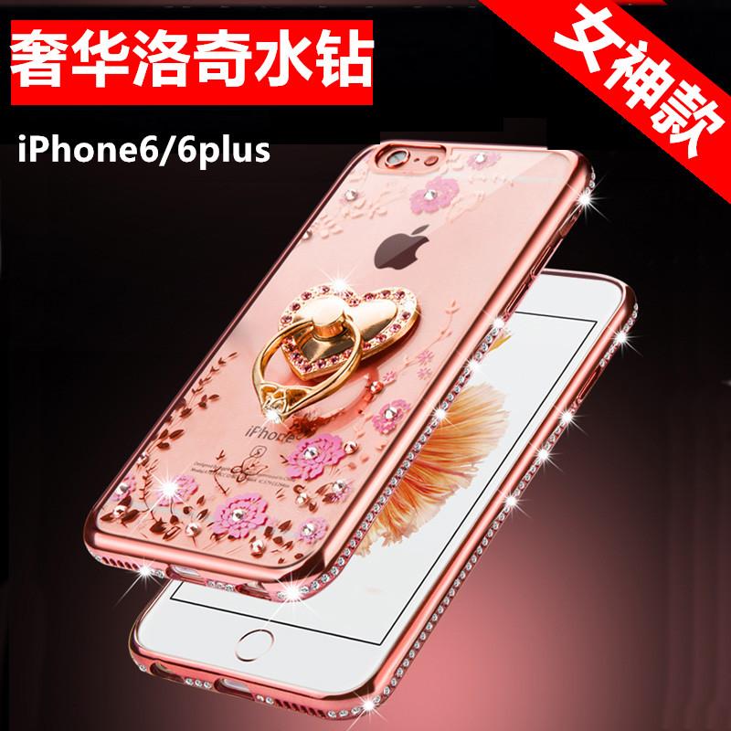 奢華鑲鑽 蘋果6s手機殼iphone6plus保護套5.5矽膠5s女防摔簡約4.7