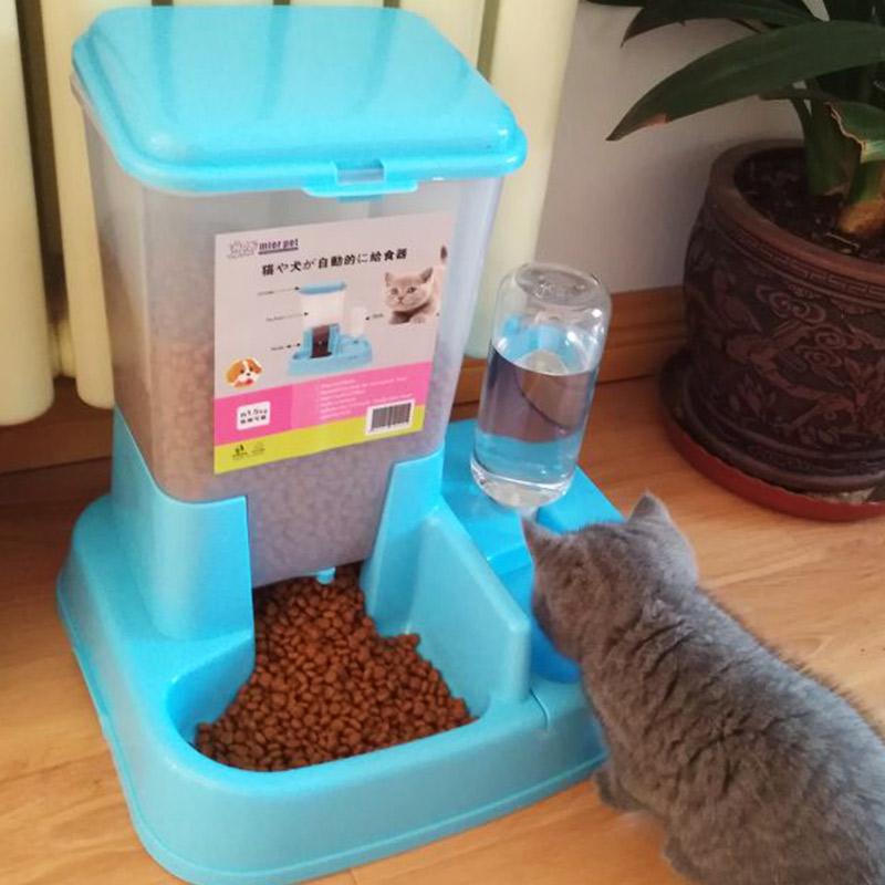 Китти собака автоматическая кормление устройство двойной чаша питьевой устройство подача нагреватель воды собака чаша кот чаша домашнее животное статьи собаки и кошки еда бассейн
