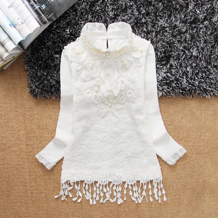 Детская одежда Осень девушки долго меняться рубашка Принцесса Кружева корейской версии базы юбка ребенка ребенок долго футболка с длинным рукавом