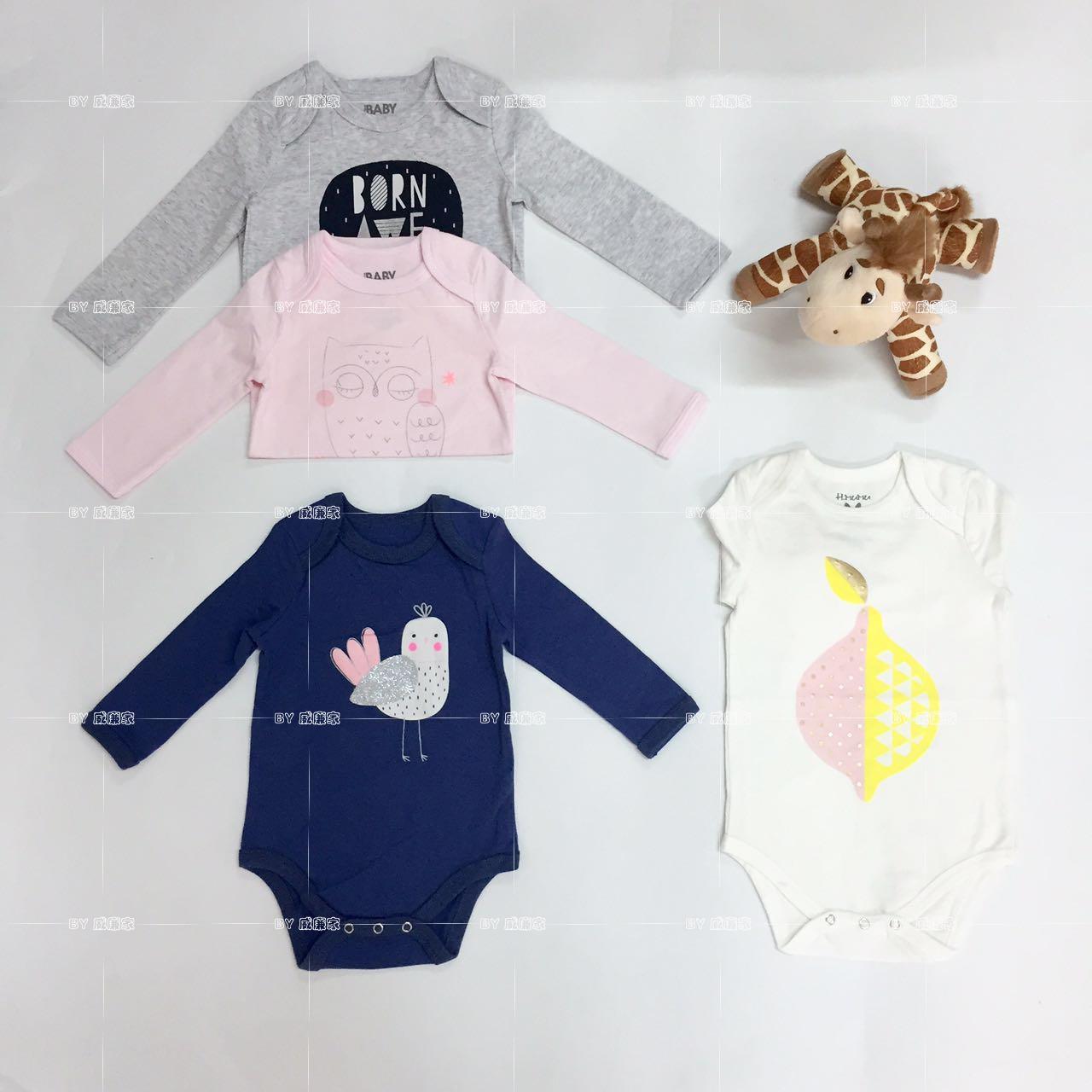 Уильям хлопчатобумажное белье, чтобы сделать пользовательские младенческой baby пукает HA одежда Одежда с длинным рукавом треугольник пакет 15