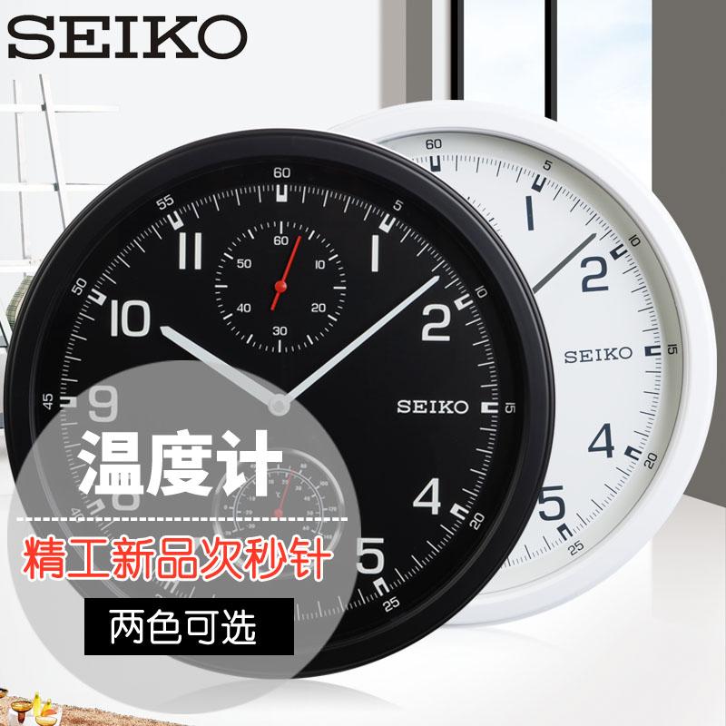 2017 метров 14 дюймовый Seiko япония seiko (компания) часы термометр вторичный второй игла личность настенные часы вешать стол