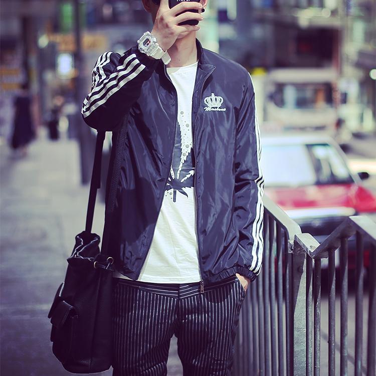 春 男士修身外套學生 夾克秋裝青少年 外衣潮流 褂子