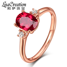 Lisa Jewelry 0.8 Carat Natural Pigeon Blood Red Seal Ring 18K Gold Embedded Coloured Jewelry Diamond Jewelry Customization