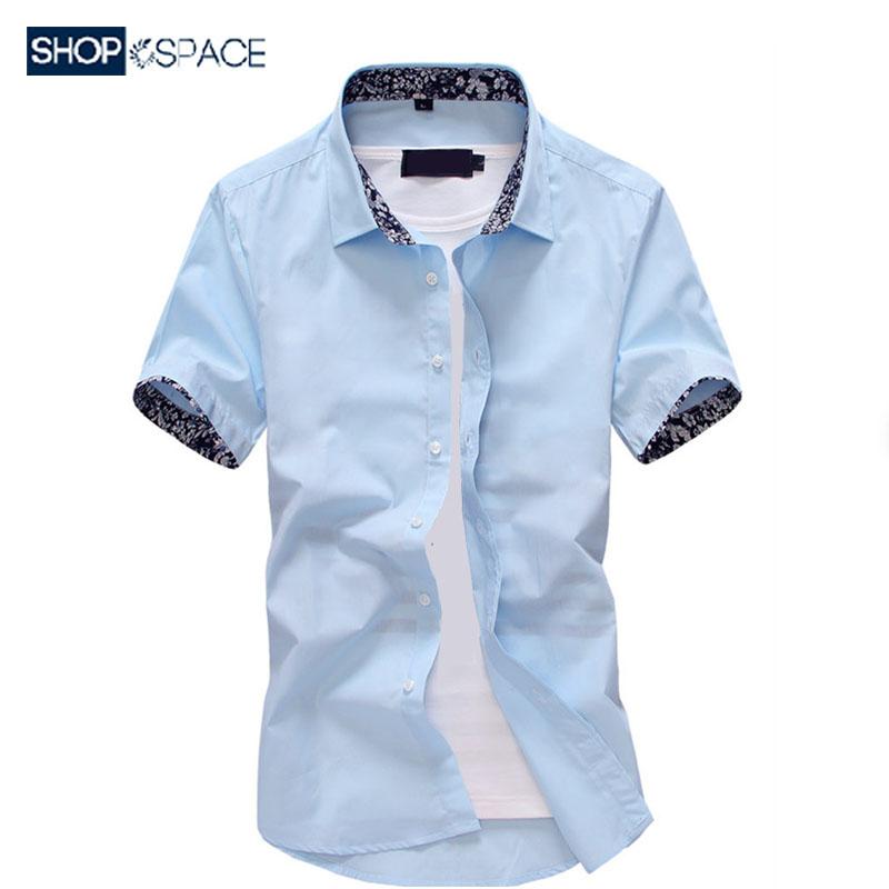 韩版修身寸衫男短袖休闲衬衣