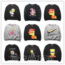 Fleece male autumn/winter 2014 new recreational easing popular logo big western code sets and velvet printing fleece Simpson