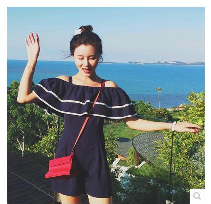 2015 году лето новый стиль платье Корейский непослушный взорваться Раффлед комбинезон комбинезон шорты