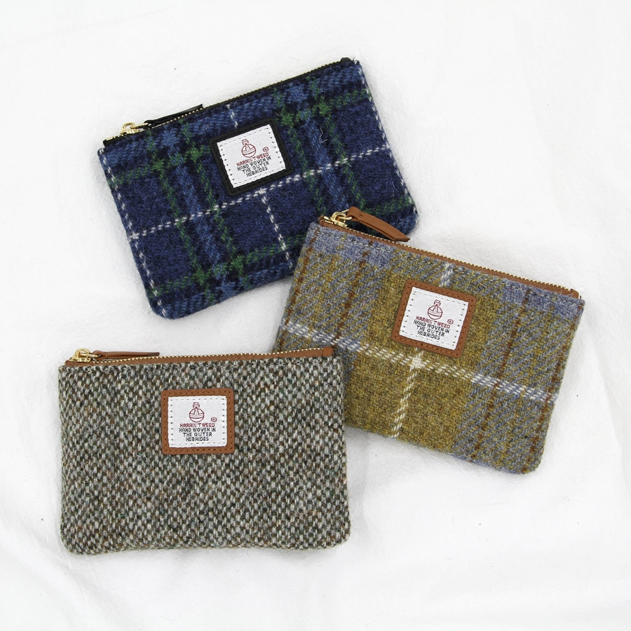 Plaidkat Harris tweed Wallet