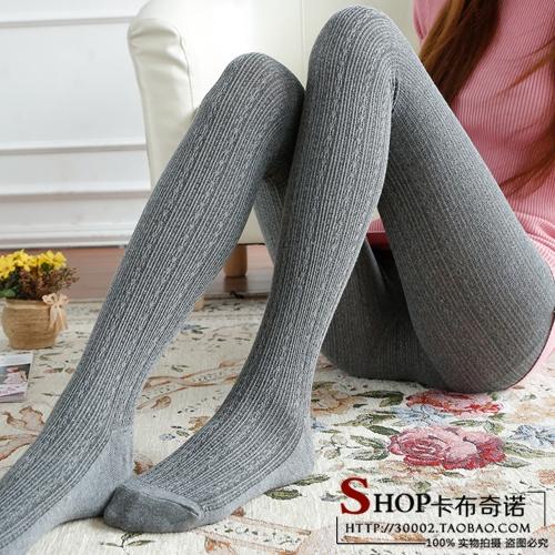 Твист леггинсы лосины для осень/зима шерсти в чулки базовый утолщенные сиамские носок хлопковые колготки чулки