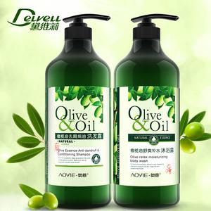 黛维莉 橄榄油洗发水1L + 沐浴露1L