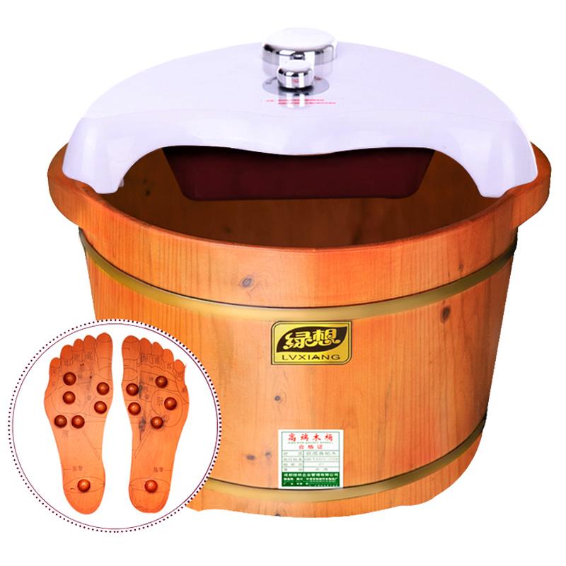 绿想木桶 泡脚木桶,带穴位按摩养生当选