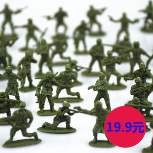Year end big promotion toy soldiers in World War II World War 1 72 1 32 Soldier model modern suits 100 people