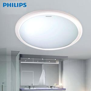 飞利浦LED防水吸顶灯灯饰灯具阳台厨房卫生间12W恒乐30807吸顶灯