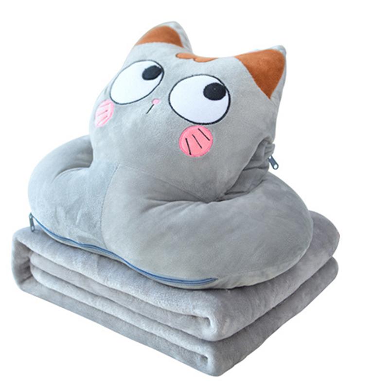 限3000张券趴睡抱枕被子两用午休珊瑚绒毯枕头