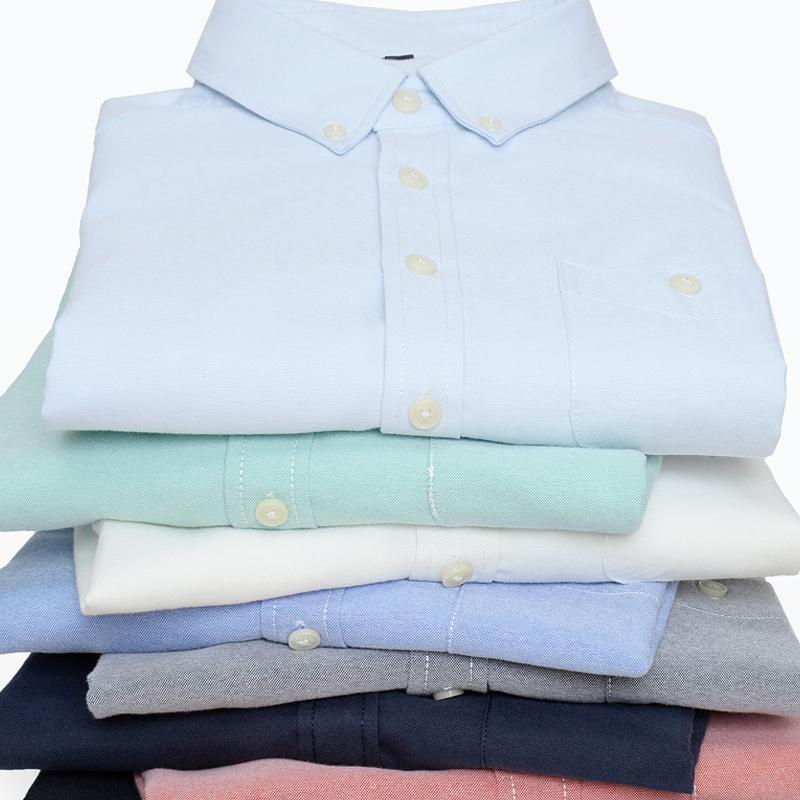 男士牛津紡青年棉質襯衫