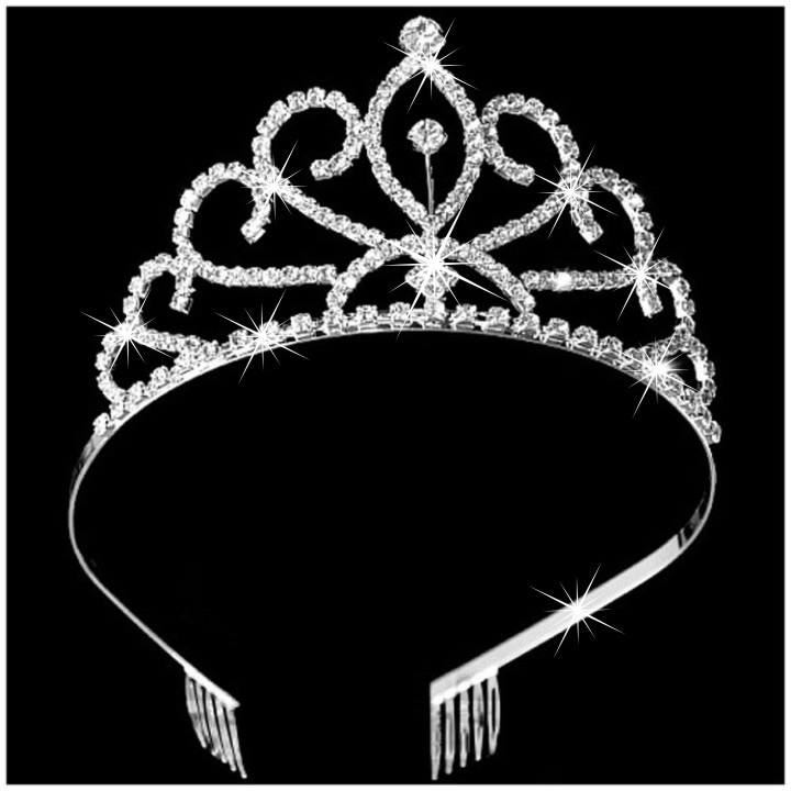 South Korea hair accessories package mail headdress Princess hair band hairpin girl accessories crown womens beauty pageant diamond crown
